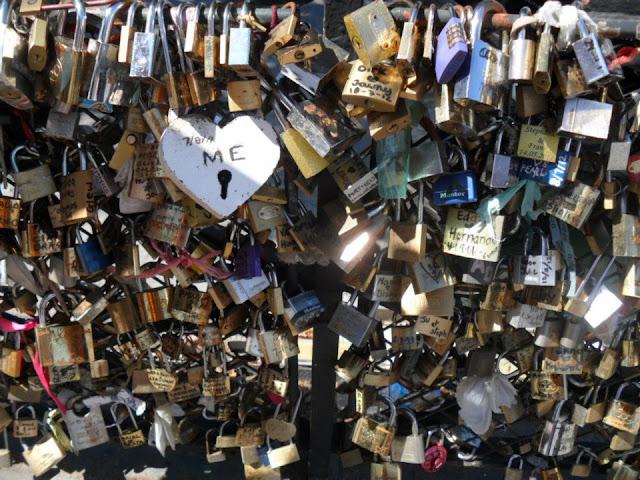 Love Padlock Paris Bridge