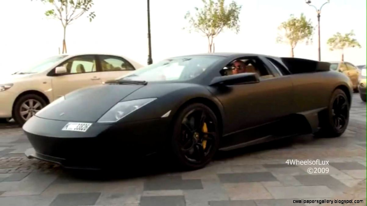 Matte Black Lamborghini Murcielago LP640 Cruising   YouTube