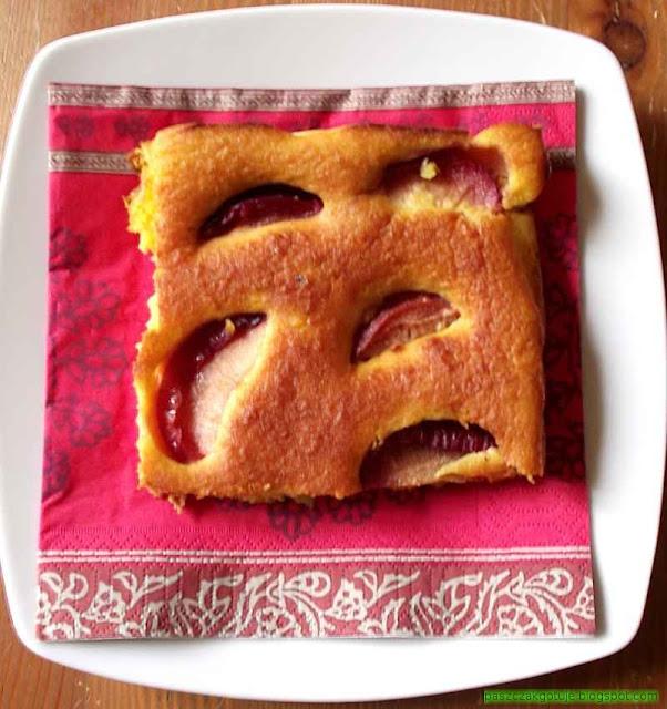 Ciasto z dyni ze śliwkami