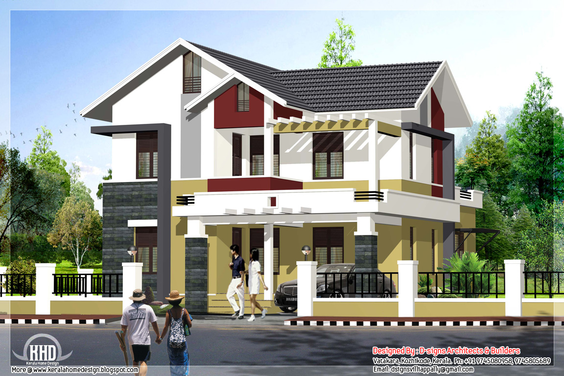 Simple 4 bedroom budget home in 1995 kerala home Simple beautiful homes exterior