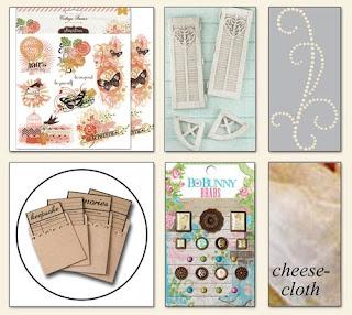 Scraps of Elegance July Home Sweet Home Kit Embellishment Add On