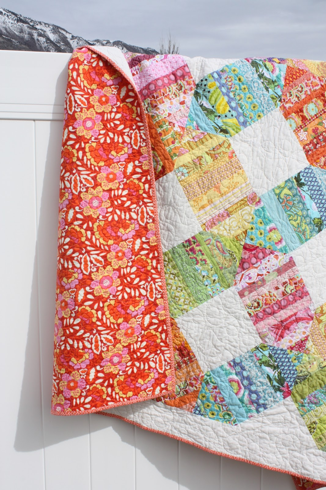 Finished Scrappy Rainbow Quilt - Diary of a Quilter - a quilt blog : rainbow quilt shop - Adamdwight.com