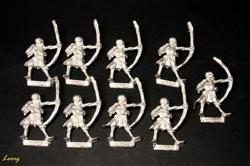 9 arqueros esqueleto