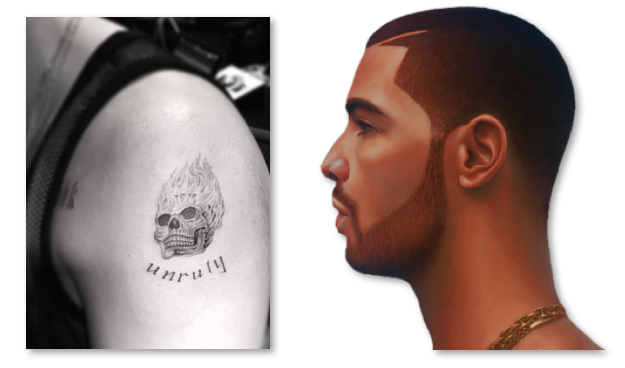 Drake new tattoo 2016 skull for Drake new tattoo