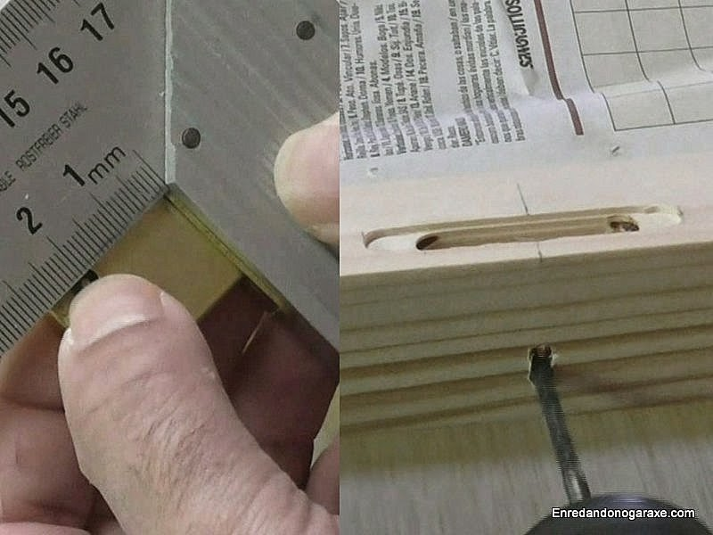 Realizar el agujero para la llave. Enredandonogaraxe.com