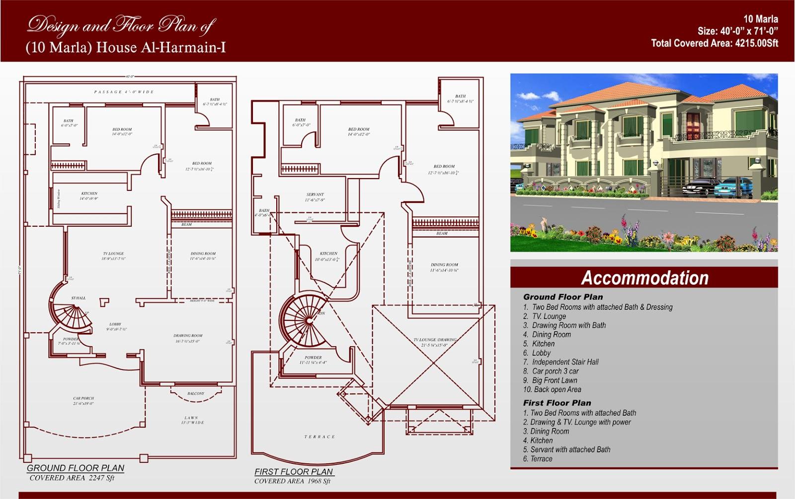 House Designs Pakistan 10 Marla