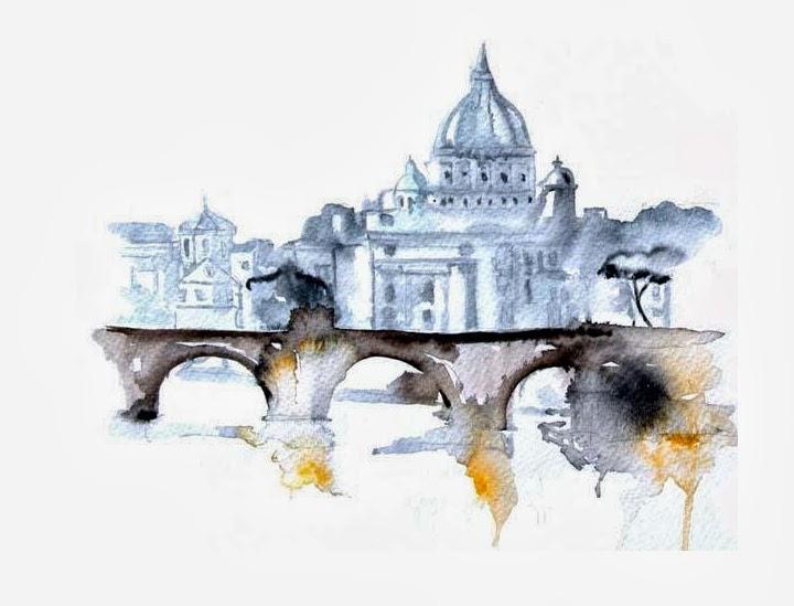WATERCOLOR CITYSCAPE ILLUSTRATIONS BY ELENA ROMANOVA – 79 ...