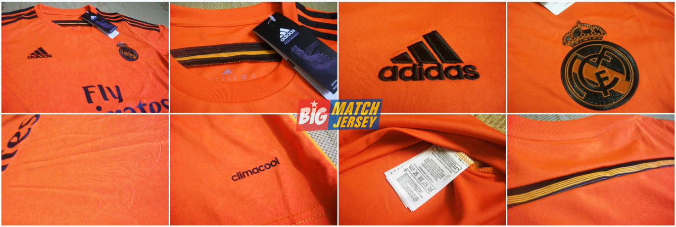 Detail New Jersey 2014-2015 UEFA Champions League Real Madrid Goalkeeper Orange Yellow #1 iker casillas GK #13 Keylor Navas Mix Custom Adidas