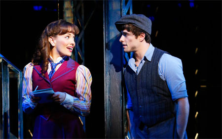 Kara Lindsay sang Watch What Happens, in Newsies on Broadway