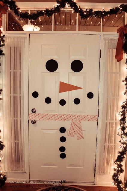 DIY Snowman Door