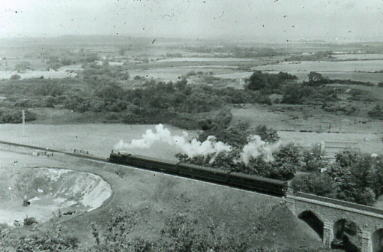 0-4-4T on passenger service a Corfe Castle