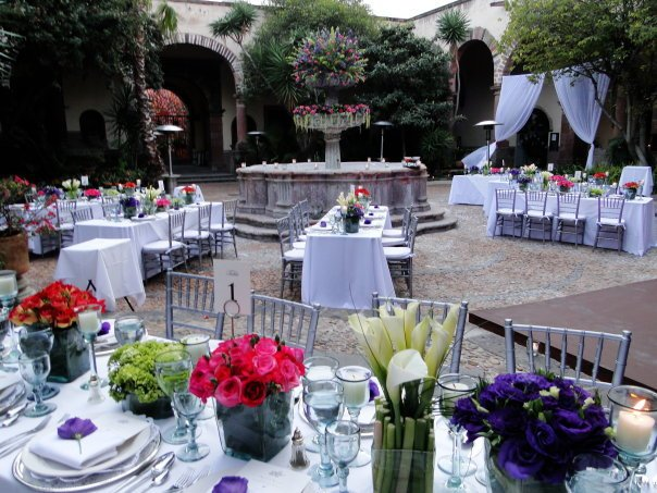 This was the outdoor wedding setting at my nephews wedding in Mexicoit was