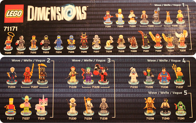 Lego Dimensions - Wave 1 to 5 models