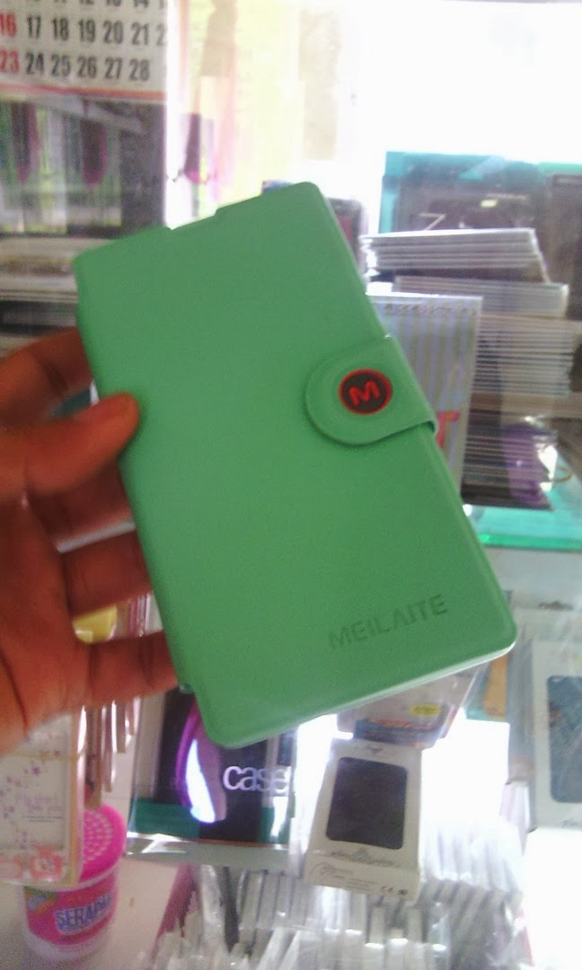 MLT  Leather Case Wallet with Stand Sony Xperia SP - Baby Green