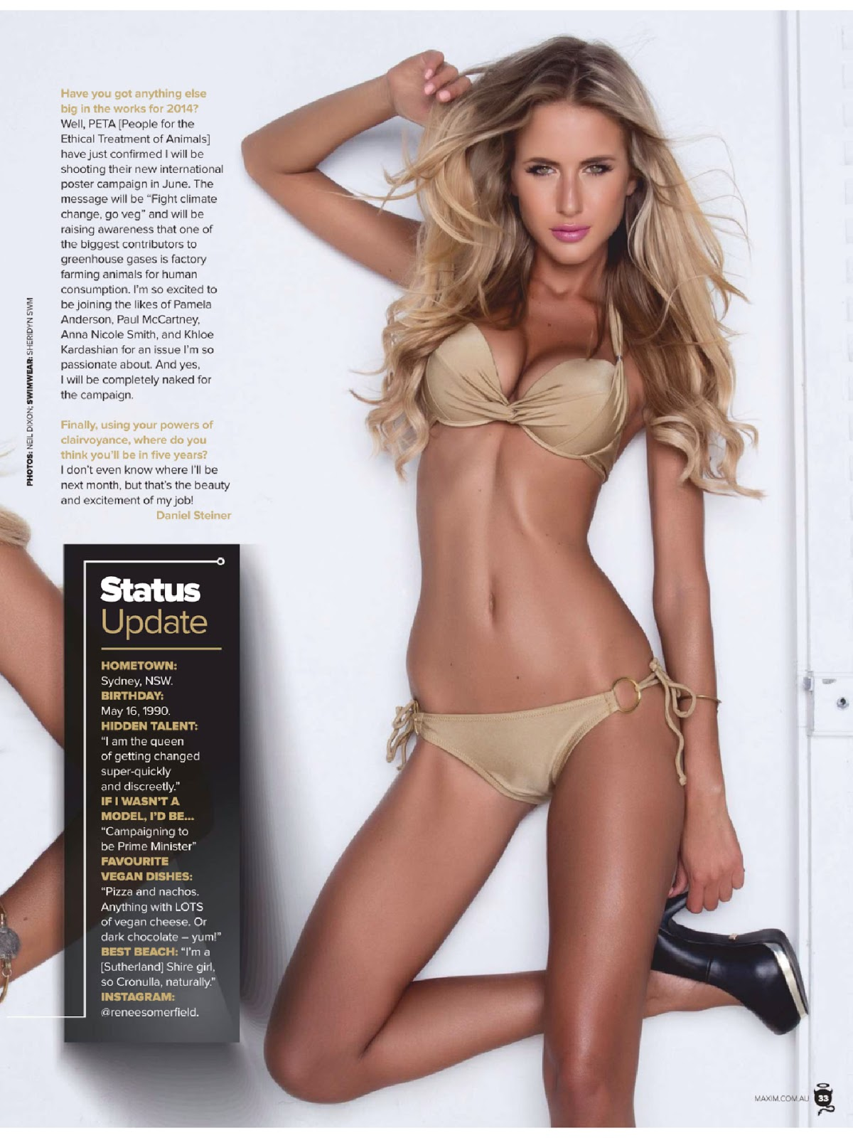 Renee Somerfield For Maxim Magazine, Australia, June 2014