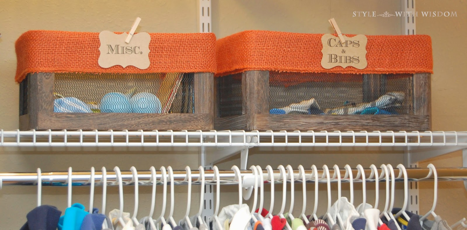 Woodland Nursery decor storage baskets