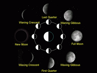 Moon Phases And Moon Elongation Angle