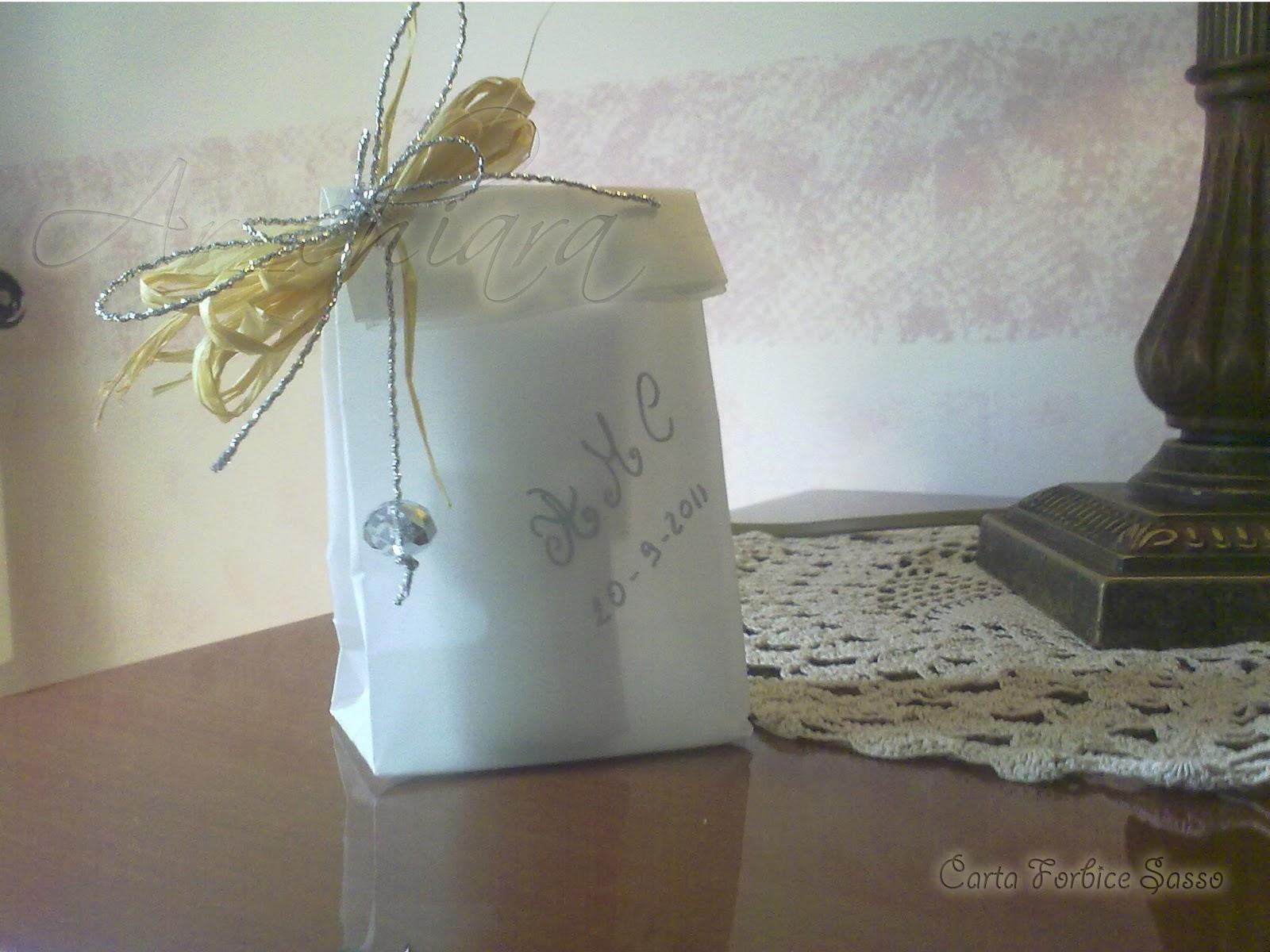 Estremamente Carta Forbice Sasso: Sacchettini portaconfetti di carta lucida, 25  BV81