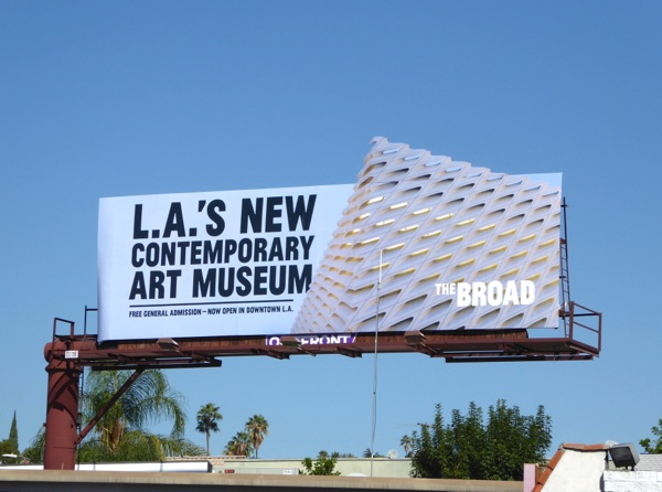 Broad LA contemporary art museum billboard
