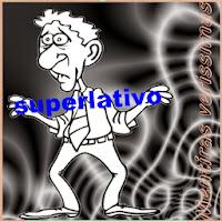 Diferenças entre os graus superlativo e comparativo dos adjetivos.