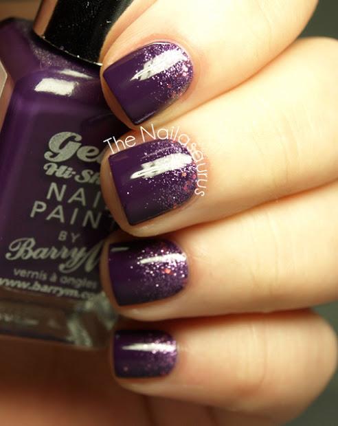 snippet purple glitter gradient