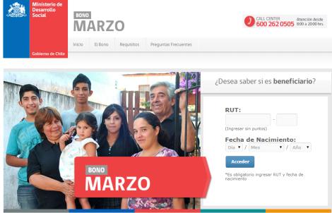 Información: Conoce cómo, dónde y cuándo podrás recibir el bono de marzo 2014 Chile