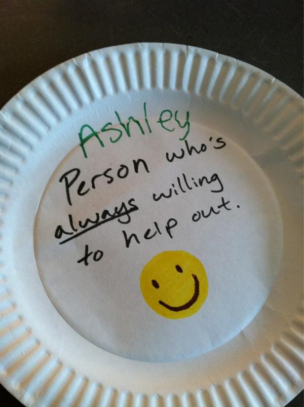 Paper plate awards please help