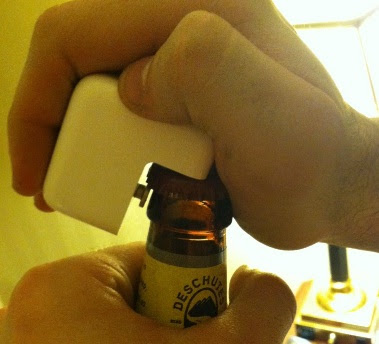 iPad chargers can open beer bottles