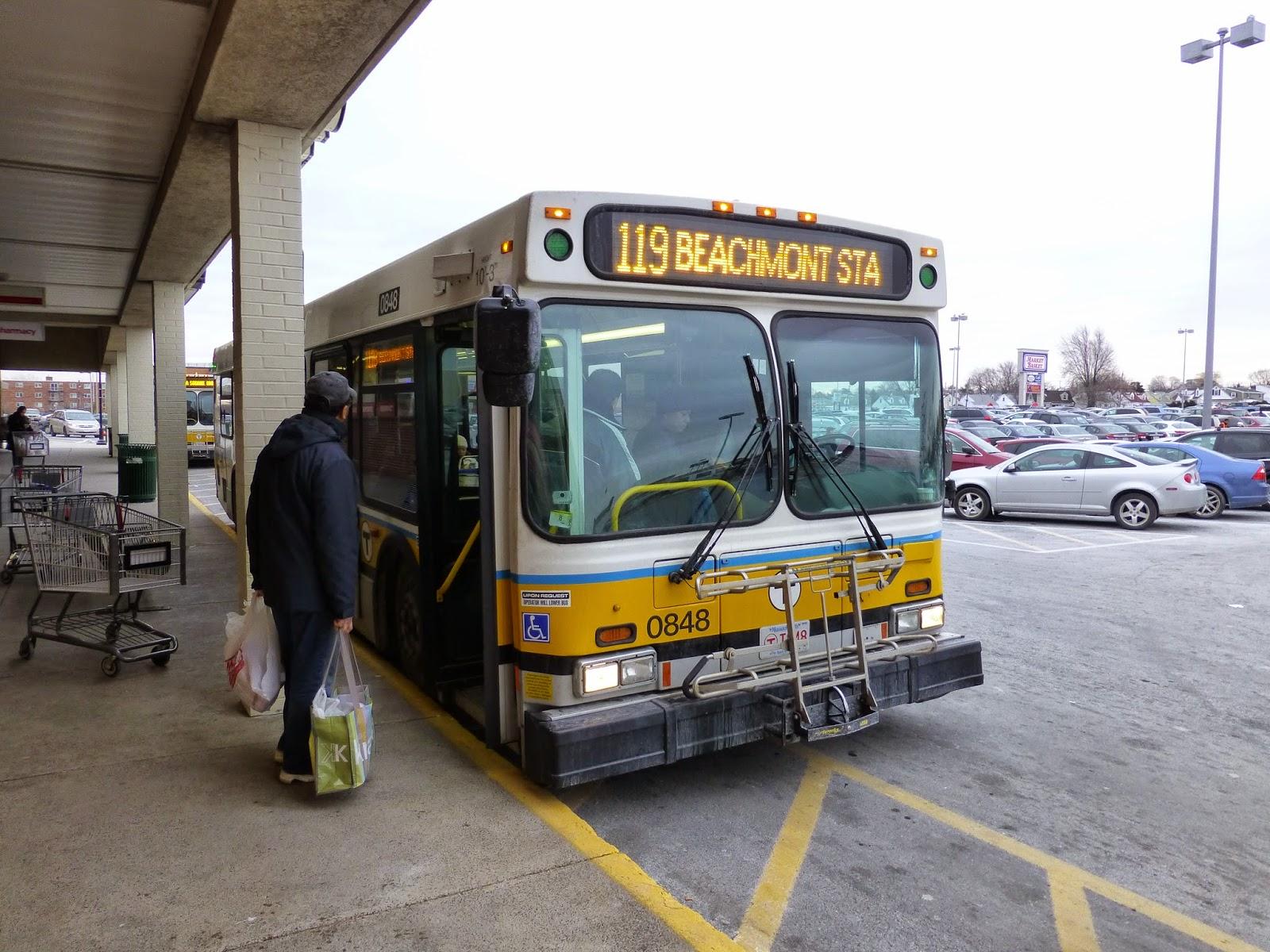 miles on the mbta: 119 (northgate - beachmont station via revere