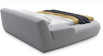 diseño cama asimetrica moderna