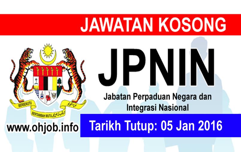 Jawatan Kerja Kosong Jabatan Perpaduan Negara dan Integrasi Nasional (JPNIN) logo www.ohjob.info januari 2016