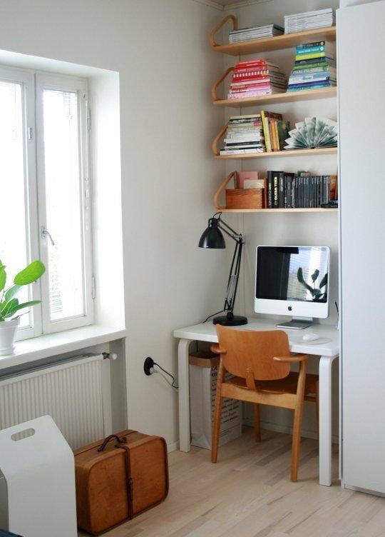 15 idee intelligenti come creare un angolo ufficio in una - Angolo studio ikea ...
