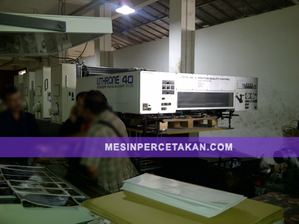Komori Lithrone L440 | Mesin Cetak 4 Warna