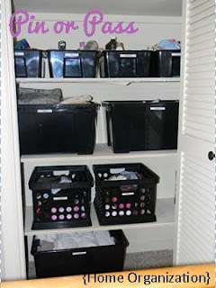 Linen closet home organization project