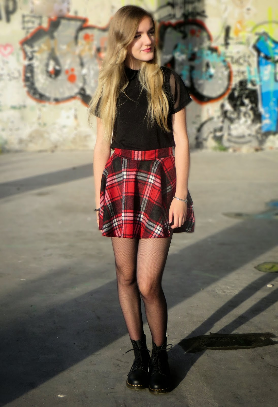 outfit with skater skirt