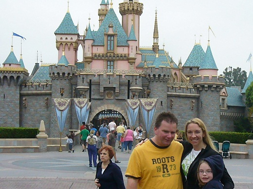 Disney Aurora castle main street california
