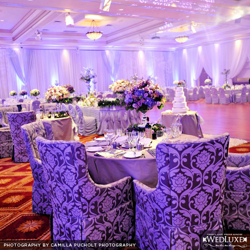 What do you think of mixing several shades of purple into your wedding