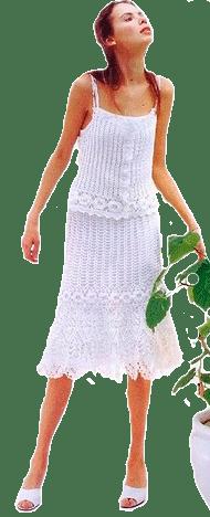 комплект: юбка и топ, связанные крючком