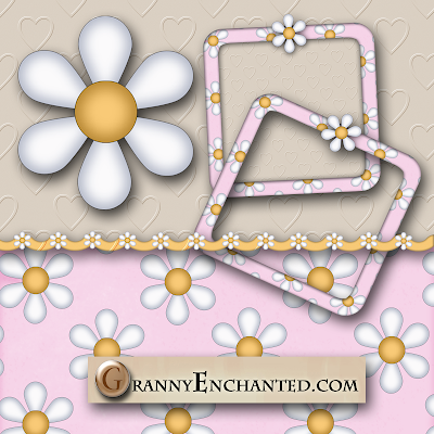 Free Pink Daisy Digi Scrapbook Kit