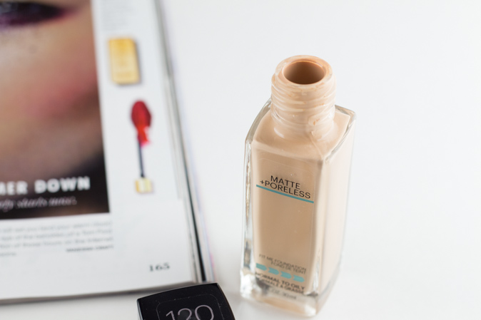 maybelline fit me foundation matte poreless classic ivory 120 review