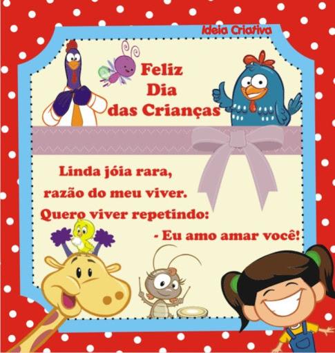 Rótulo para Sacola Galinha Pintadinha Dia das Crianças