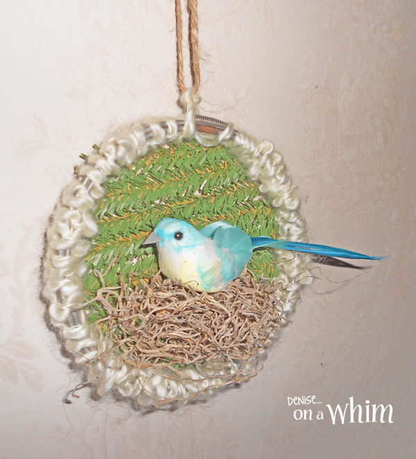 Bird in a Nest Embroidery Hoop Ornament from Denise on a Whim
