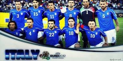 Daftar Squad Italia 'Gli Azzuri' untuk Euro 2012