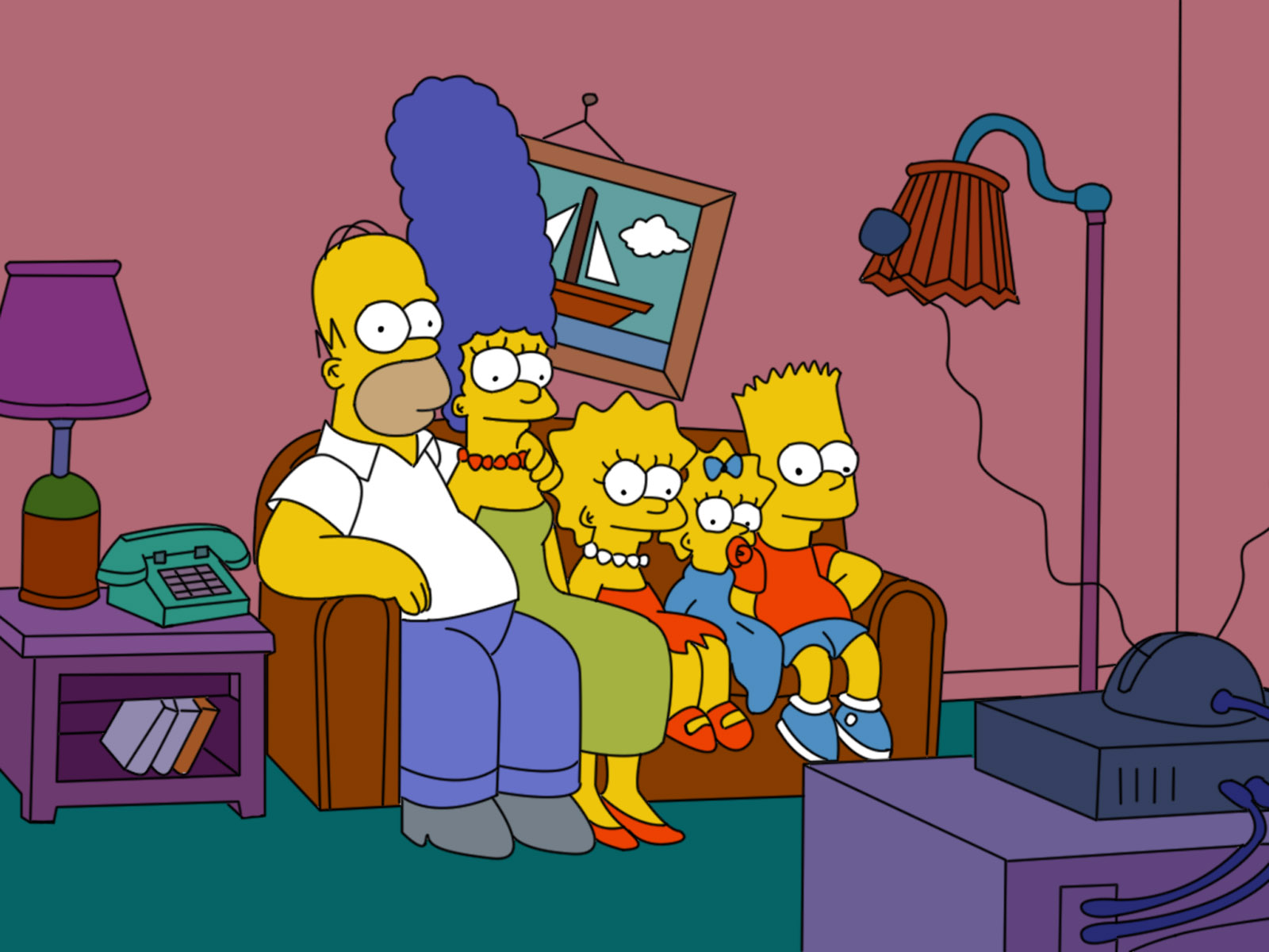 Simpsons On Couch