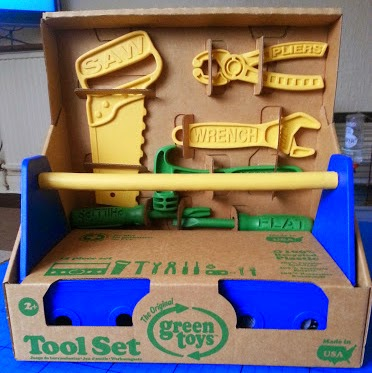 Green Toys Recycled Plastic Children's Tool Set Review age 2+