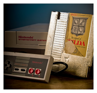 original nes and the legend of zelda gold cartridge