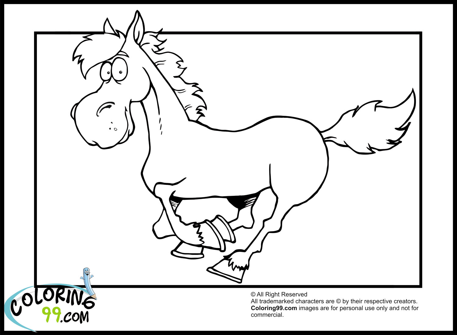 coloring pages of a horse - horse coloring pages team colors