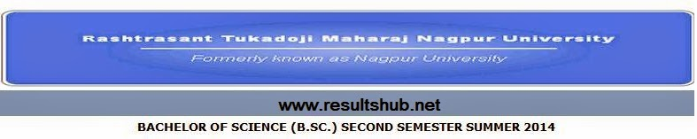 B.Sc. 2nd Semester Summer 2014 Result Nagpur University