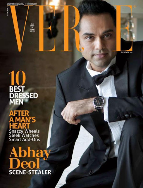 Actor Abhay Deol on the cover page of Verve Man magazine