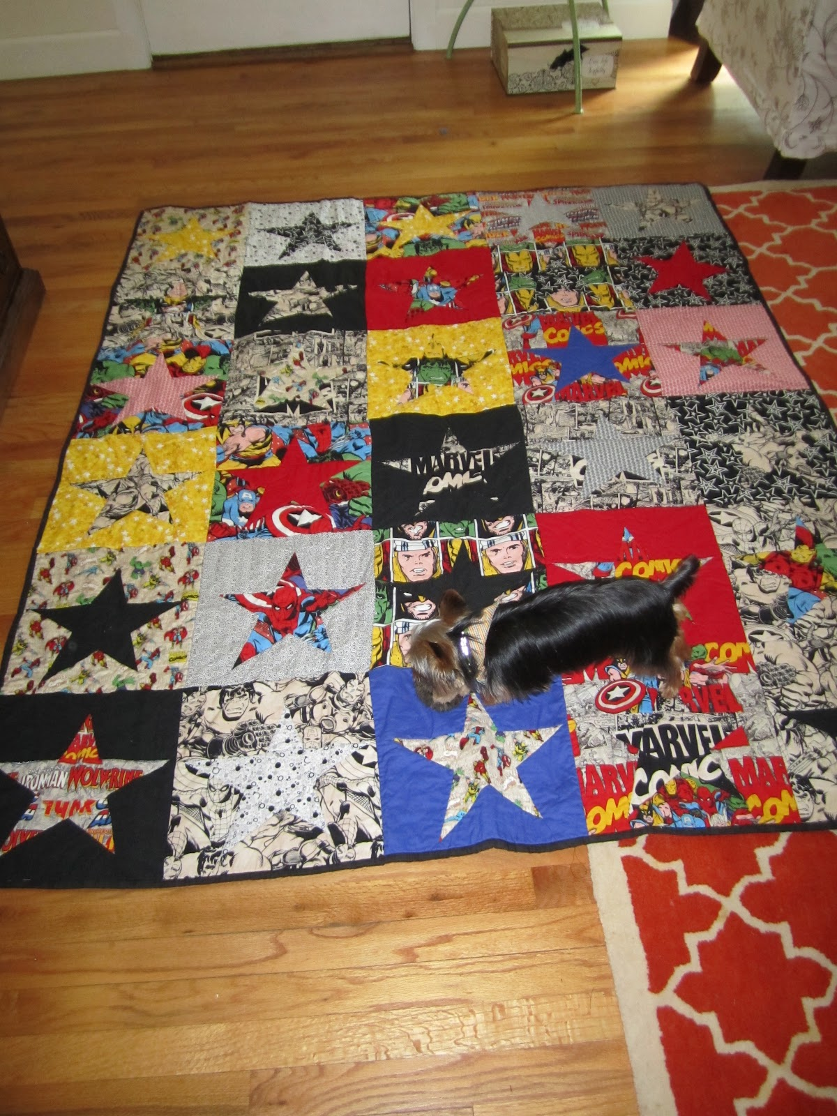 Behind the Scenes at the Circus: Summertime Stars/Marvel Comics Quilt : marvel quilt - Adamdwight.com